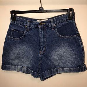 Zana•di Vintage High Rise Cuffed Denim Mom Shorts